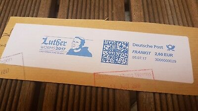 Martin Luther  Worms 2017 Seltener Maschinenstempel