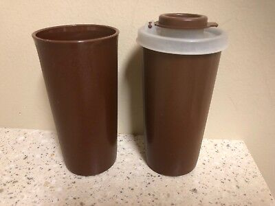 Vintage Tupperware Salt and Pepper Shakers 1329 Brown Set Replacement