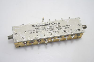 Weinschel 3220-1 Programmable Attenuator 0-2GHz 127dB 1dB Step