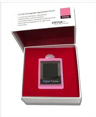Cirrus 1.5 Inch Rechargeable Digital Photo Frame LCD Display 8MB Memory - Pink