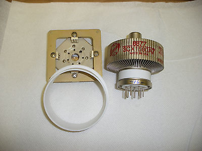 Eimac Sk-2210 / Sk-2216 Socket & Chimney With Plate Contact Ring  - 1 Piece