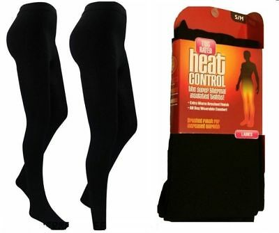 Ladies Thick Thermal Fleece Super Insulated Warm Tights, Sizes S,M,L,XL,XXL