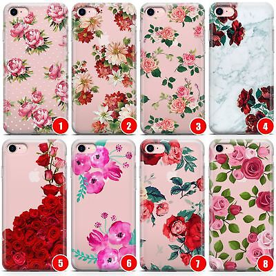 Floral Slim Flexible Phone Case for iPhone | Pink Flower Fashion Summer