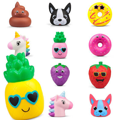 Slow Rising Squishies Squishy Squeeze Kids Toy Stress Reliever unicorn poo donut