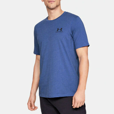 Under Armour Mens Sportstyle Left Chest T Shirt Tee Top Blue Sports Gym Running