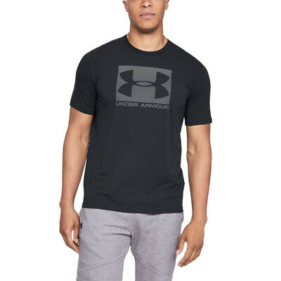 Under Armour Mens Boxed Sportstyle Short Sleeved T Shirt Tee Top Black Sports