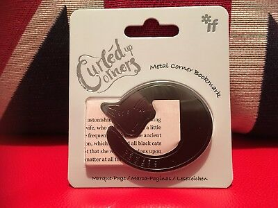 Curled Up Corners - Metal Bookmark - Cosy Cat. Brand New