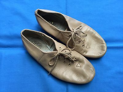 Bloch Tan Leather Jazz Dance Shoes - Size 5½ (Adult)
