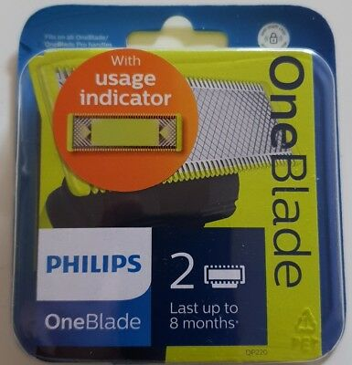 Philips ONEBLADE Qp220/50 Replaceable Blade Head 2 Blades