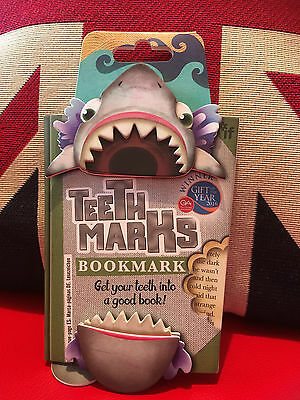 Teeth-Marks Bookmark - Shark. Dynamic Fun Bookmark. Gift, Brand New
