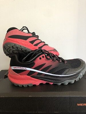 MERRELL All Out Charge Womens Size 7.5 Running Shoes Black Pink