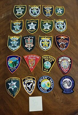 LOT OF 20 DIFFERENT POLICE PATCHES  NEW/MINT CONDITION  lot#B