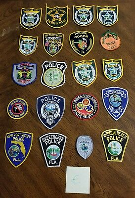 LOT OF 20 DIFFERENT POLICE PATCHES  NEW/MINT CONDITION  lot#E