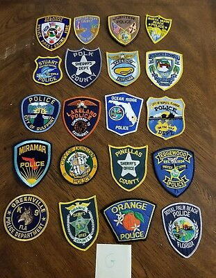 LOT OF 20 DIFFERENT POLICE PATCHES  NEW/MINT CONDITION  lot#G