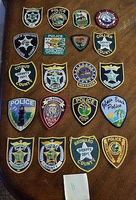 LOT OF 20 DIFFERENT POLICE PATCHES  NEW/MINT CONDITION  lot#H