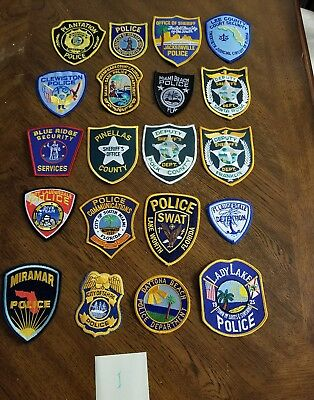LOT OF 20 DIFFERENT POLICE PATCHES  NEW/MINT CONDITION  lot#i