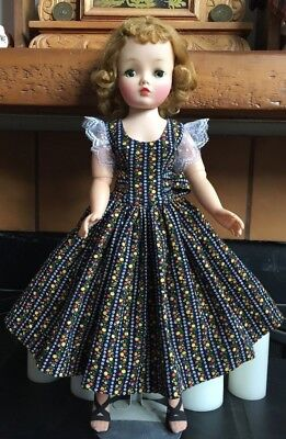 "Floral Wallpaper Print Sundress  For 20"" Madame Alexander Vintage Cissy Doll"