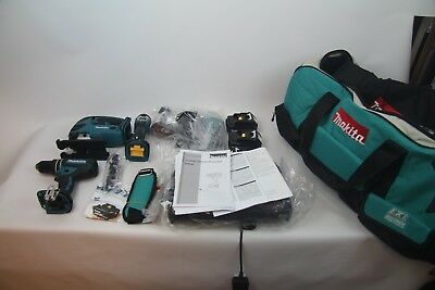 Makita DLX4051PM1 18v LXT 4 Piece Combo Kit inc 3x 4.0Ah Batteries