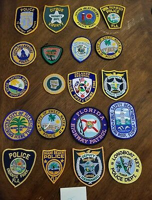 LOT OF 20 DIFFERENT POLICE PATCHES  NEW/MINT CONDITION  lot#J