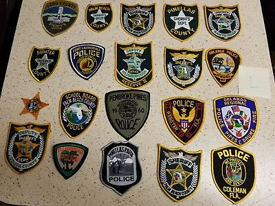 LOT OF 20 DIFFERENT POLICE PATCHES  NEW/MINT CONDITION  lot#L