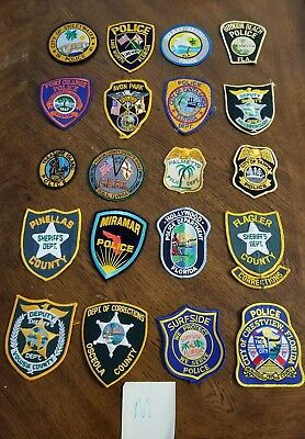 LOT OF 20 DIFFERENT POLICE PATCHES  NEW/MINT CONDITION  lot#M