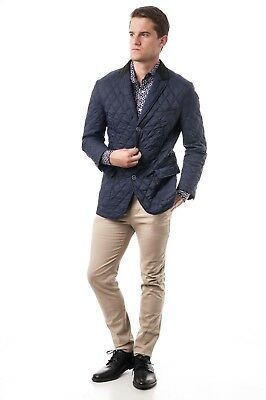NEW WITH TAGS Renoir Men's 2104-2 Quilted Jacket in Navy XL