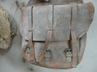 1904 pattern saddle bags, Still full of soldier's equipment