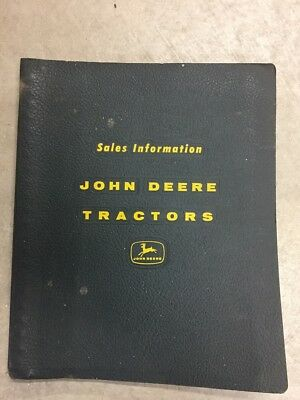 John Deere 10-series tractor sales information binder 1960-1962.  Nice and RARE.