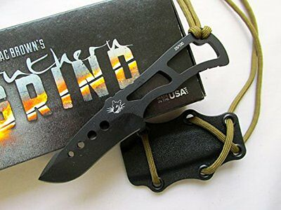 Southern Grind Rat Tactical Fixed Blade Neck Knife RAT-DP-BLKYBLK New