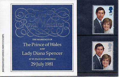 127a 1981 ROYAL WEDDING CHARLES DIANA STAMPS PRESENTATION PACK Great Britain GB
