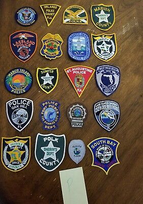 LOT OF 20 DIFFERENT POLICE PATCHES  NEW/MINT CONDITION  lot#P