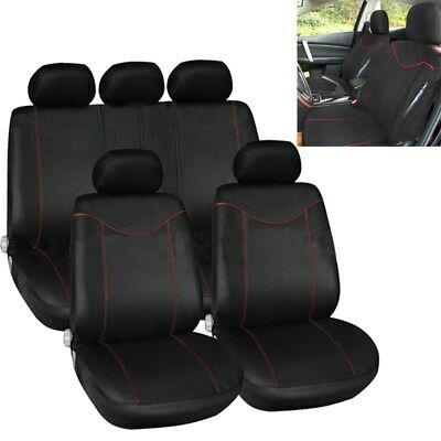 11X Universal Car Seat Covers Full Set Front&Rear Seat Back Head Rest Protector