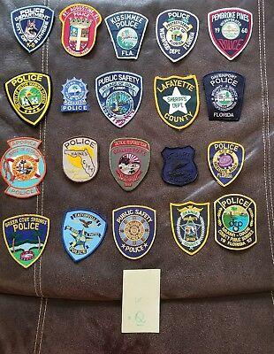 LOT OF 20 DIFFERENT POLICE PATCHES  NEW/MINT CONDITION  lot#Q