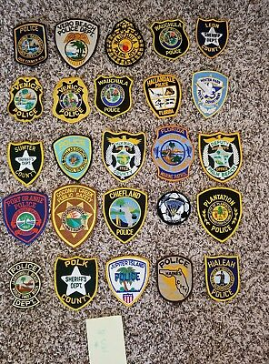 LOT OF 20 DIFFERENT POLICE PATCHES  NEW/MINT CONDITION  lot#S