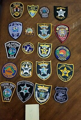 LOT OF 20 DIFFERENT POLICE PATCHES  NEW/MINT CONDITION  lot#U