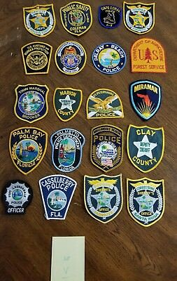 LOT OF 20 DIFFERENT POLICE PATCHES  NEW/MINT CONDITION  lot#V