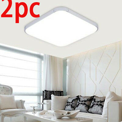 2PCS 24W Square LED Ceiling Down Light Bedroom Lamp Surface Mount Fixture