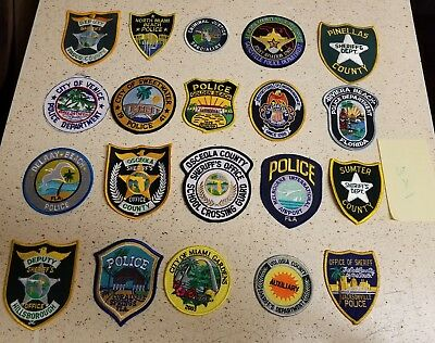 LOT OF 20 DIFFERENT POLICE PATCHES  NEW/MINT CONDITION  lot#X