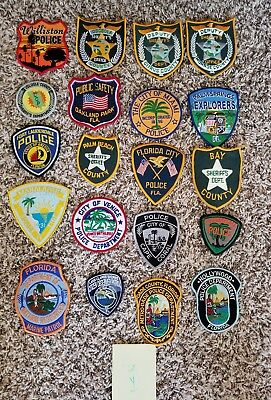 LOT OF 20 DIFFERENT POLICE PATCHES  NEW/MINT CONDITION  lot#Y