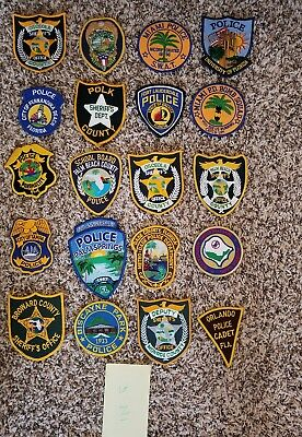 LOT OF 20 DIFFERENT POLICE PATCHES  NEW/MINT CONDITION  lot#Z
