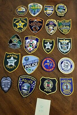 LOT OF 20 DIFFERENT POLICE PATCHES  NEW/MINT CONDITION  lot#33