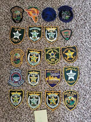 LOT OF 20 DIFFERENT POLICE PATCHES  NEW/MINT CONDITION  lot#34