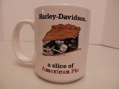 Harley Davidson Ceramic Coffee Mug/Cup A Slice Of American Pie-VGC-Free Shipping