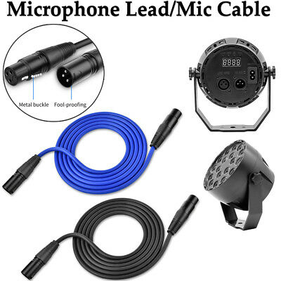 Microphone Lead/Mic Cable/XLR Patch Lead Balanced Male to Female 2m-8m Extension