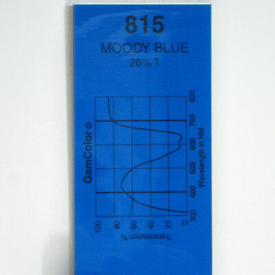 GAM  #815 Moody Blue  gel color media filter sheet