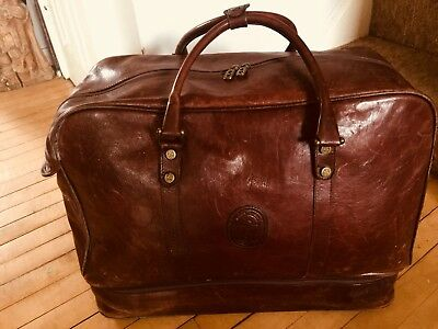 Marino Orlandi Superb Italian Leather Travel Holdall Weekend Shoulder Bag