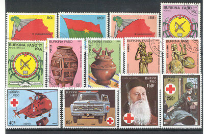 Burkina Faso - Nice Lot of canceled Stamps Year 1985