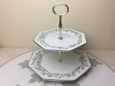 Johnson Brothers Eternal Beau 2 Tier Cake Plate Lovely Condition
