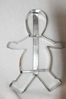 """Vintage Gingerbread Man Cookie Cutter 10"""" pre-owned Nice Large cookie Cutter"""