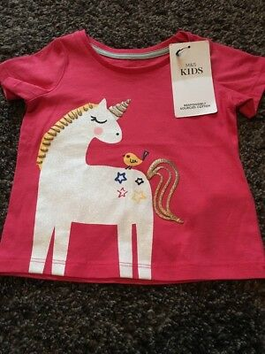 M&s New With Tags Tshirt 6/9ths